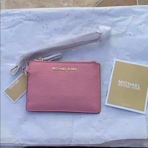 Michael Kors Pebbled Leather Coin Purse / Wristlet